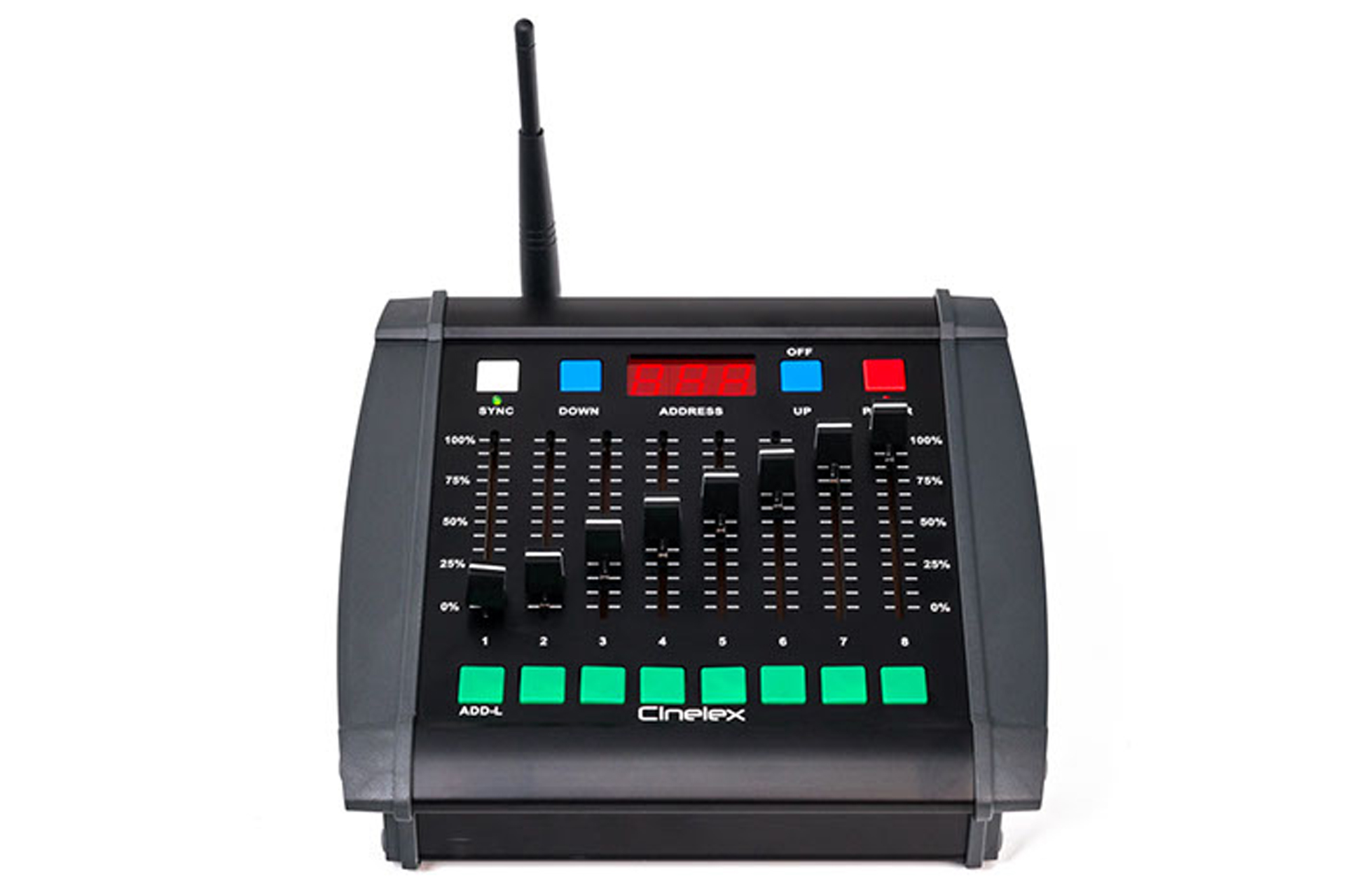 Universal Wireless DMX transmittert portable desk Cinelex Desk TX-8